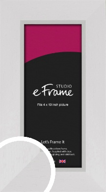 Clean Cotton White Picture Frame, 4x10