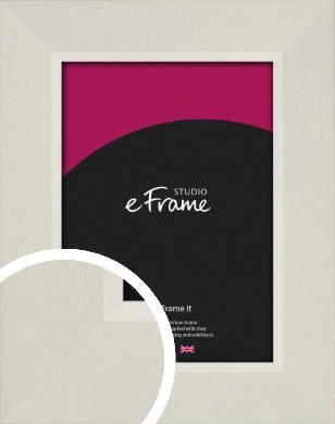Open Grain Coconut White Picture Frame (VRMP-1198)