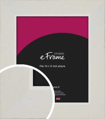 Grained Neutral White Picture Frame, 10x12