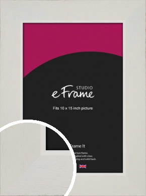 Grained Neutral White Picture Frame, 10x15