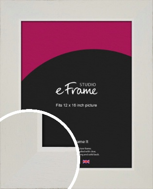Grained Neutral White Picture Frame, 12x16