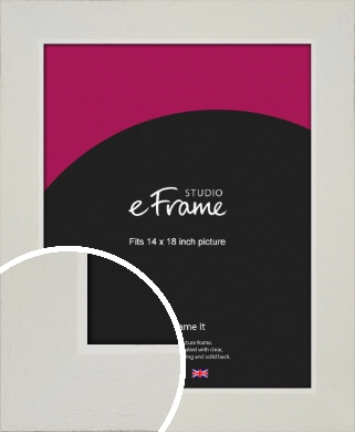 Grained Neutral White Picture Frame, 14x18