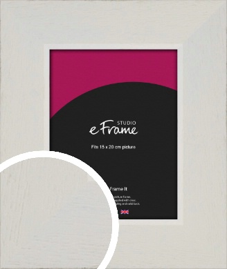 Grained Neutral White Picture Frame, 15x20cm (6x8