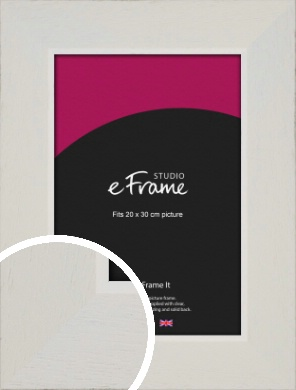 Grained Neutral White Picture Frame, 20x30cm (8x12
