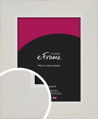 Grained Neutral White Picture Frame, 21x28cm (VRMP-1200-21x28cm)