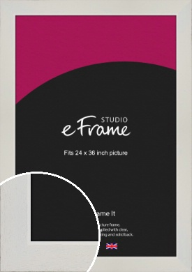 Grained Neutral White Picture Frame, 24x36