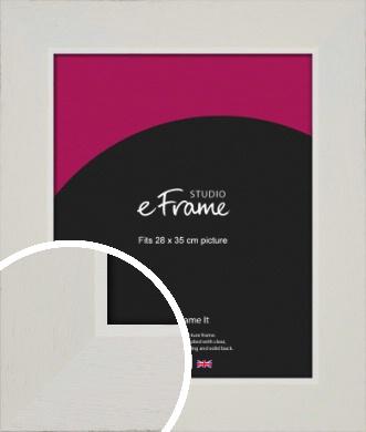 Grained Neutral White Picture Frame, 28x35cm (VRMP-1200-28x35cm)