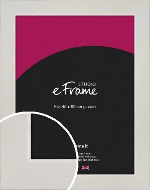 Grained Neutral White Picture Frame, 45x60cm (VRMP-1200-45x60cm)