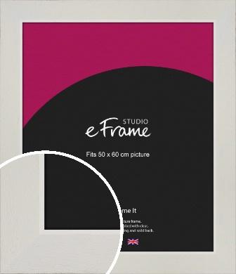 Grained Neutral White Picture Frame, 50x60cm (VRMP-1200-50x60cm)