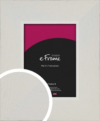 Grained Neutral White Picture Frame, 5x7