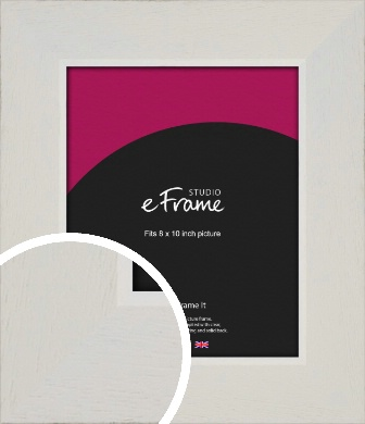 Grained Neutral White Picture Frame, 8x10