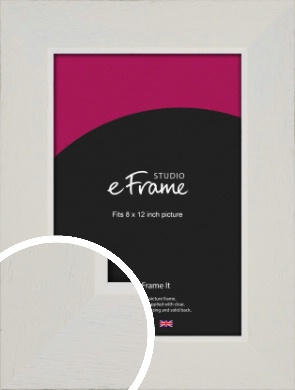 Grained Neutral White Picture Frame, 8x12
