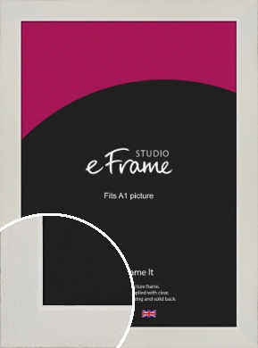 Grained Neutral White Picture Frame, A1 (594x841mm) (VRMP-1200-A1)