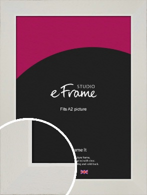 Grained Neutral White Picture Frame, A2 (420x594mm) (VRMP-1200-A2)