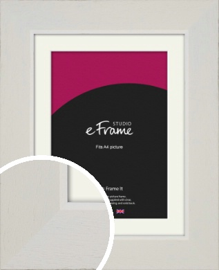 Grained Neutral White Picture Frame & Mount, A4 (210x297mm) (VRMP-1200-M-A4)