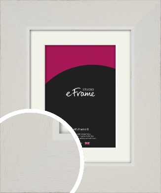 Grained Neutral White Picture Frame & Mount (VRMP-1200-M)