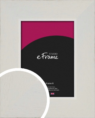 Grained Neutral White Picture Frame (VRMP-1200)