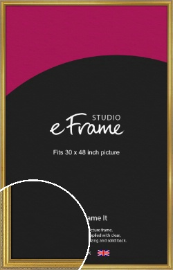 Simple Beaded Gold Picture Frame, 30x48