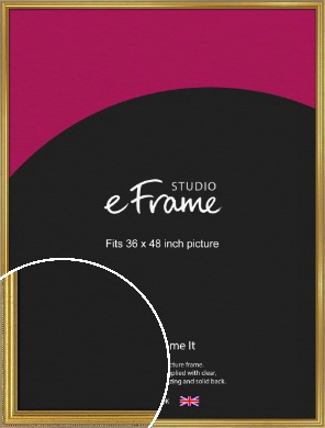 Simple Beaded Gold Picture Frame, 36x48