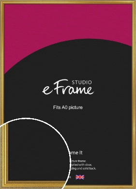 Simple Beaded Gold Picture Frame, A0 (841x1189mm) (VRMP-604-A0)
