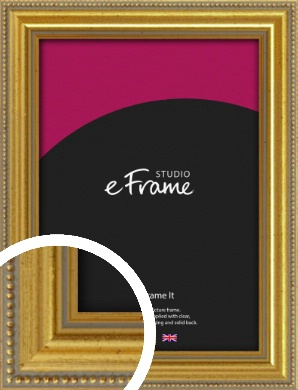 Simple Beaded Gold Picture Frame (VRMP-604)