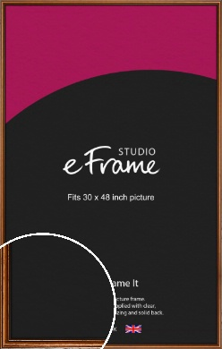 Understated Danish Brown Picture Frame, 30x48