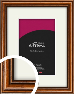 Understated Danish Brown Picture Frame & Mount, 4x6