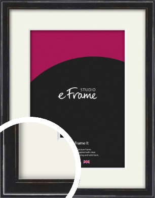 Narrow High Gloss Black Picture Frame & Mount (VRMP-331-M)