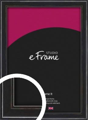 Narrow High Gloss Black Picture Frame (VRMP-331)