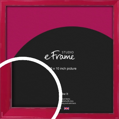 Gloss Poppy Red Picture Frame, 10x10