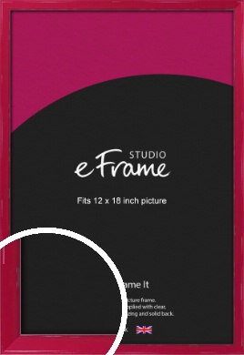 Gloss Poppy Red Picture Frame, 12x18