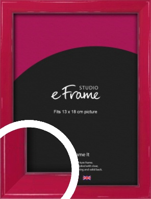 Gloss Poppy Red Picture Frame, 13x18cm (5x7