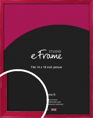 Gloss Poppy Red Picture Frame, 14x18