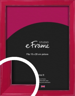Gloss Poppy Red Picture Frame, 15x20cm (6x8