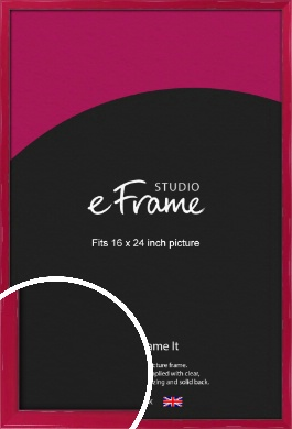 Gloss Poppy Red Picture Frame, 16x24