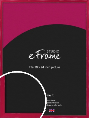 Gloss Poppy Red Picture Frame, 18x24