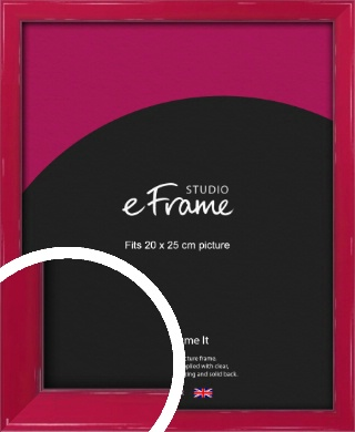 Gloss Poppy Red Picture Frame, 20x25cm (8x10