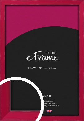 Gloss Poppy Red Picture Frame, 20x30cm (8x12