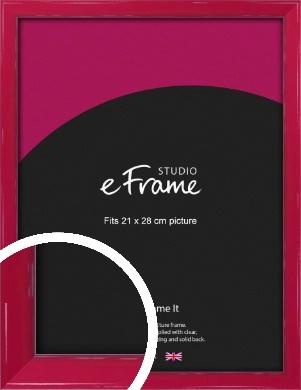 Gloss Poppy Red Picture Frame, 21x28cm (VRMP-330-21x28cm)