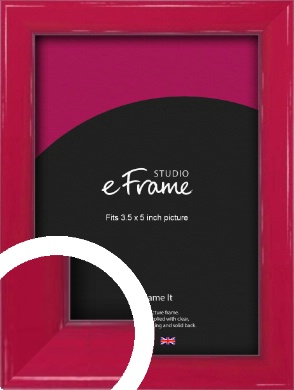 Gloss Poppy Red Picture Frame, 3.5x5