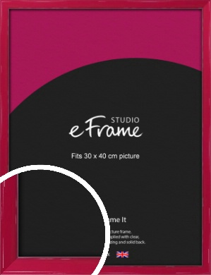 Gloss Poppy Red Picture Frame, 30x40cm (VRMP-330-30x40cm)