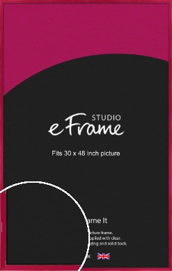 Gloss Poppy Red Picture Frame, 30x48