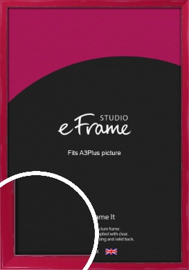 Gloss Poppy Red Picture Frame, A3Plus (VRMP-330-329x483mm)