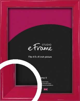 Gloss Poppy Red Picture Frame, 4.5x6