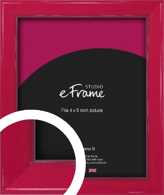Gloss Poppy Red Picture Frame, 4x5