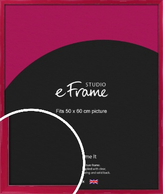 Gloss Poppy Red Picture Frame, 50x60cm (VRMP-330-50x60cm)