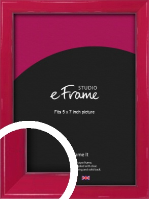 Gloss Poppy Red Picture Frame, 5x7