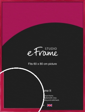 Gloss Poppy Red Picture Frame, 60x80cm (VRMP-330-60x80cm)