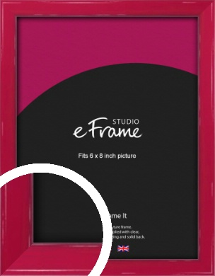 Gloss Poppy Red Picture Frame, 6x8