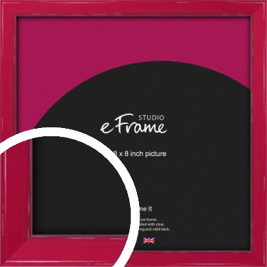 Gloss Poppy Red Picture Frame, 8x8